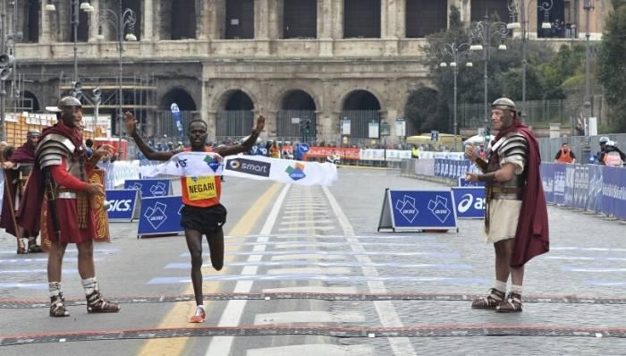 Ethiopian Getachew Terfa Negari won Rome Marathon