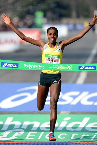 Tadese breaks course record in Paris as Some smashes PB