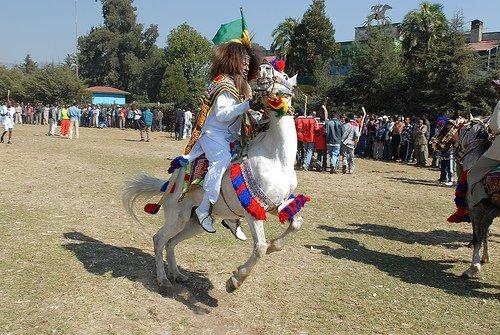 Gena game in Jan meda, Addis Ababa  Source-theforsakenchildren
