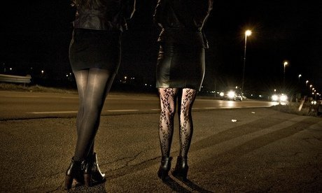 Prostitutes in Milan, Italy. Photograph: Alamy