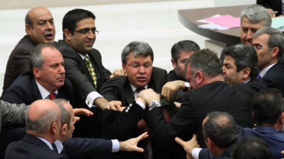 MPs brawl in Turkish parliament over reform