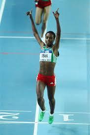 Genzebe Dibaba 1500m 3.55.17, new indoor WR, Karlsruhe 2014