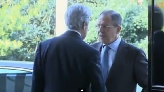 Video : Kerry, Lavrov meet in UK to defuse tensions over Crimea