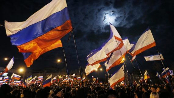 Pro-Russian Crimeans Celebrate Referendum Results