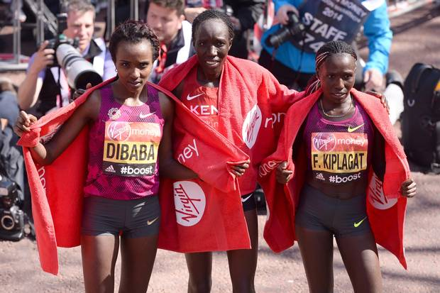Disappointed: Olympic champion Dibaba won't give up on her marathon dream