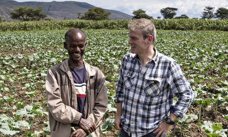 Experts in their field: Mark at the Halaku irrigation Scheme in Awassa. He is talking with farmer Alamu Kufa, who is 35 and has seven children. Photograph: Petterik Wiggers/Panos Pictures