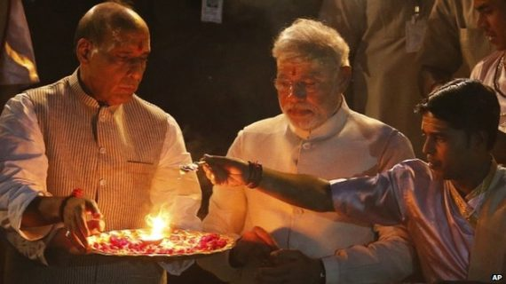 BJP Party Leaders Celebrations with Narendra Modi on Party's Victory
