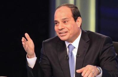 Presidential candidate and Egypt's former army chief Abdel Fattah al-Sisi talks during a television interview broadcast on CBC and ONTV, in Cairo, May 6, 2014. (Photo Reuters-Al Youm Al Saabi Newspaper)