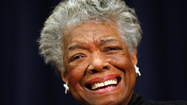 Poet Maya Angelou, seen in 2008, withdrew from this week's 2014 Major League Baseball Beacon Awards Luncheon where she was to be honoured, citing issues with her health. The author and activist has died at age 86. (The Associated Press) /Repost CBC