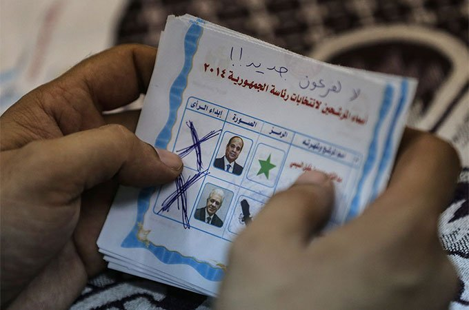 Sisi won 96.91 percent of the vote [AFP] /Repost Aljazeera