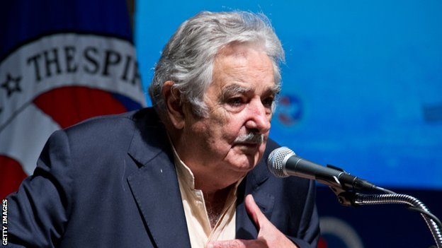 Uruguay President José Mujica /Image posted on BBC