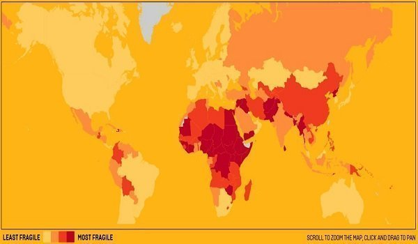 Image : Screenshot of FP World Fragile State Map