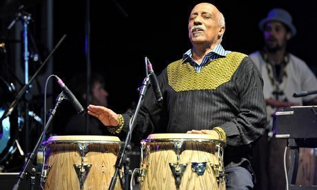 Mulatu Astatke on stage at the Big Chill festival, Herefordshire, in 2011. Photograph: Andy Sheppard/Redferns