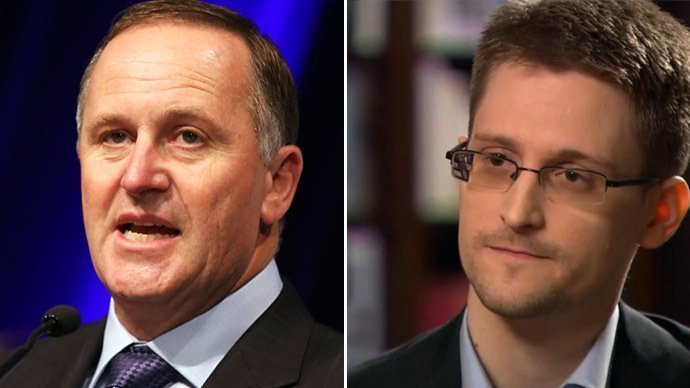 New Zealand's Prime Minister John Key (L) and Edward Snowden (Reuters/AFP) Source - RT