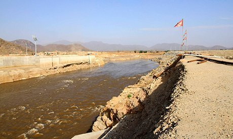 Nile waters flow through the construction site of the Grand Renaissance dam in Guba Woreda, Benishangul Gumuz region March 16, 2014 (Photo: Reuters)