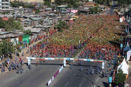 The start line of the Great Ethiopia Run Source- Chronicle Live