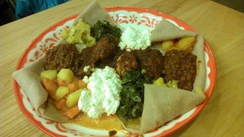 Sampler plate at Ambo Ethiopian Cuisine at Bellingham Public Market PATRICIA BOYCE — Courtesy to The Bellingham Herald