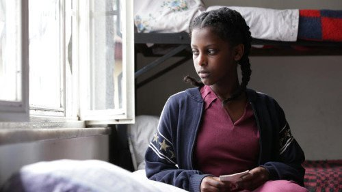 """Hirut (Tizita Hagare) sits in a halfway house in """"Difret."""" (Haile Addis Pictures / Cineart)"""