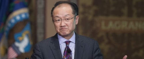 World Bank Group President Jim Yong Kim delivers Georgetown University's inaugural Global Futures lecture on the Ebola virus in Washington, DC, January 27, 2015. AFP PHOTO/JIM WATSON (Photo credit should read JIM WATSON/AFP/Getty Images) | JIM WATSON via Getty Images