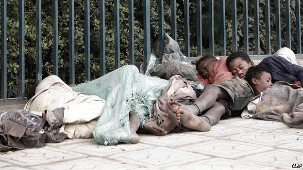 This photo is from 2007, but homeless people are still seen on the streets of Addis Ababa /AFP