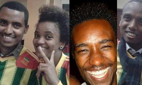 For one year Atnaf Berahane, Mahlet Fantahun, Zelalem Kiberet, Befeqadu Hailu, Natnael Feleke, Abel Wabela, have been imprisoned in Ethiopia. Photograph: Global Voices