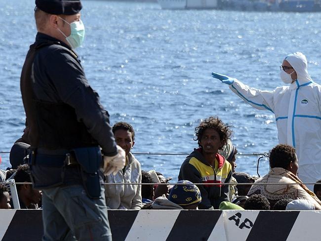 Survivors  Picture: AFP/Giovanni Isolino via www.news.com.au