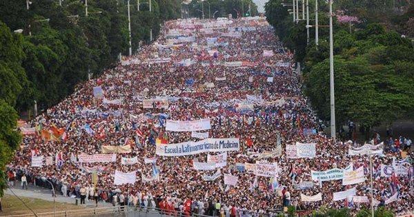 May Day March in Havana Source: http://www.havanatimes.org