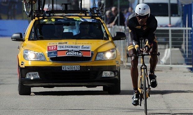 Daniel Teklehaimanot of MTN-Qhubeka will ride the Tour de France next month. Photograph: Giuseppe Bellini/Getty Images