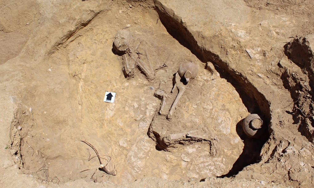 The grave in Ethiopia where the woman dubbed 'Sleeping Beauty' was discovered. Photograph: Graeme Laidlaw