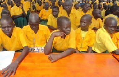 pupils_attend_the_inauguration_of_owinykibul_central_primary  - Source Sudan Tribune