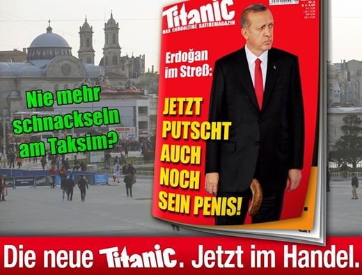 RT: German magazine mocks Erdogan with 'penis cover' …