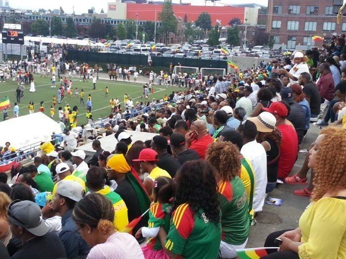 Ethiopian Day - Yesterday at the Alan Lamport Stadium Photo : borkena