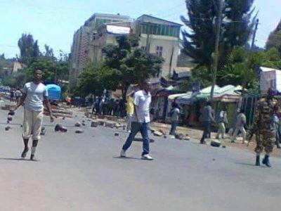 Protest in Gonder, Ethiopia Source : Social Media
