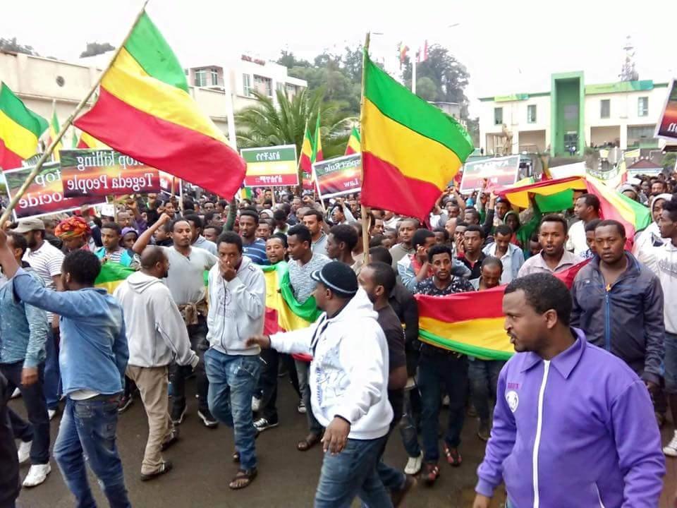 Gondar Protest - source Mesafint Bazezewu on Facebook
