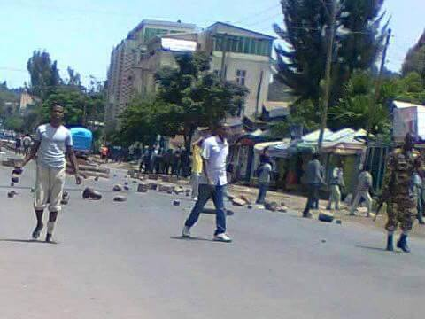 Protest in Gonder, Ethiopia  Source : Social Media