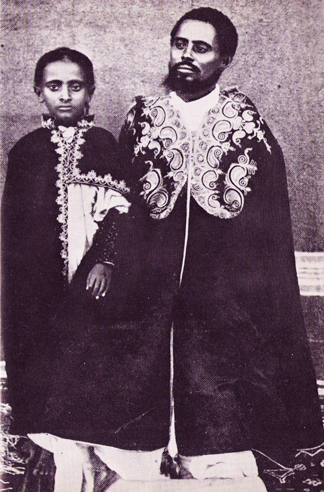 Teferi Mekonen - Later Haile Selassie - with his father Ras Mekonen Source : Social Media
