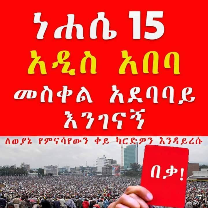 Addis Ababa red card Protest