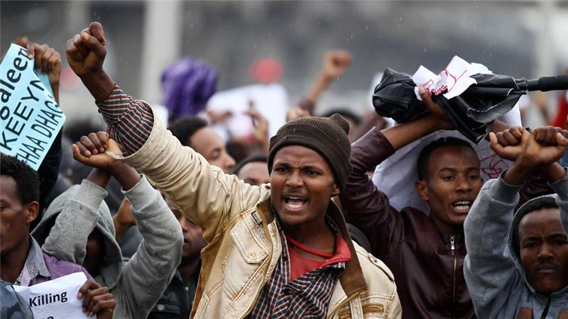 Saturday's rally was the first rally to be held in Addis Ababa after a series of Oromo and Amhara protests elsewhere [Reuters] via Aljazeera