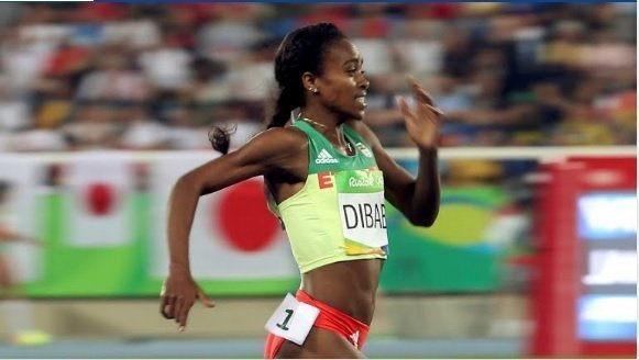 Genzebe Dibaba competing at Rio Source : Rio2016.com