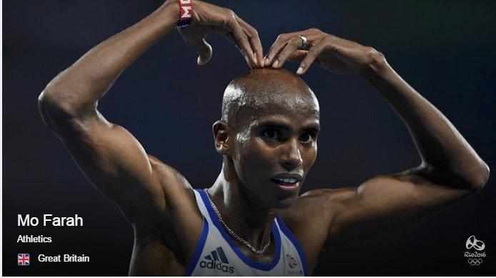 Mo Farah Source : Rio2016.com