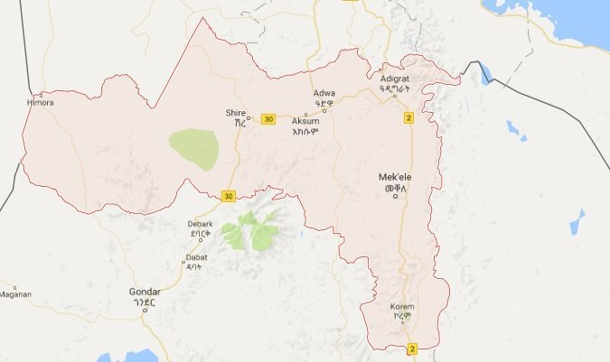 Tigray Map - source google