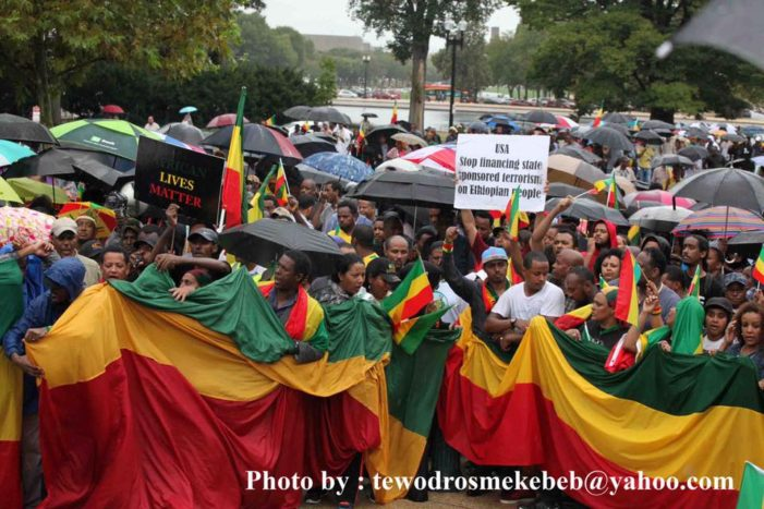 Massive Ethiopians peaceful march and protest in Washington DC in Words and Pictures