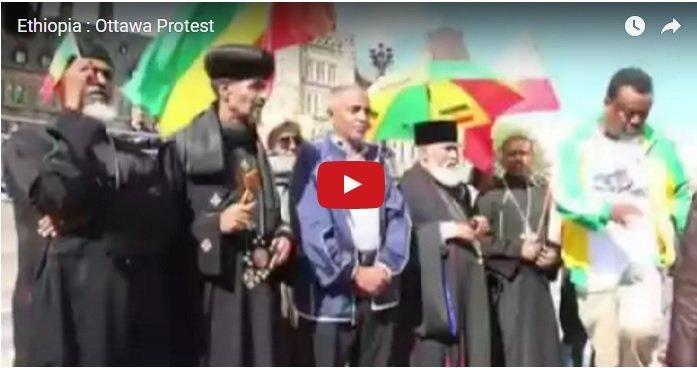Ethiopians protested in Ottawa,Canada