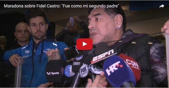 """ Fidel is like my second father"" Former soccer star Maradona"