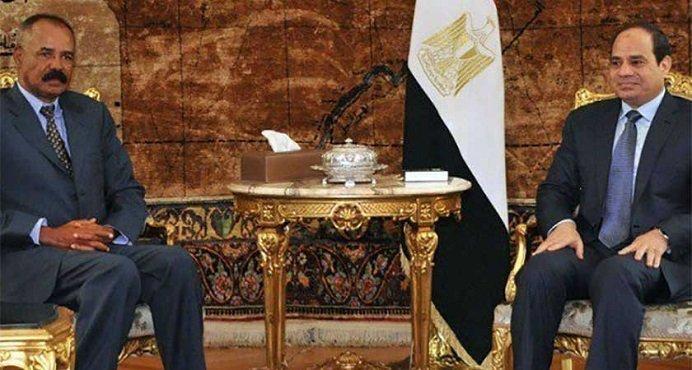 Isayas Afeworki and Sisi  Credit : Egyptian Presidency via ESAT