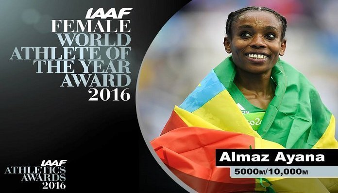 Almaz Ayana - IAAF World Athlete of the year. Source : Facebook page of IAAF