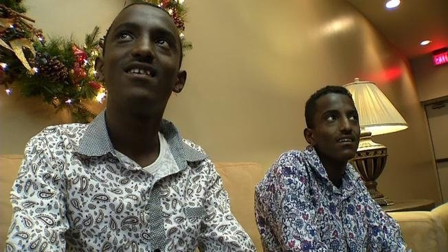 Ethiopian twins Markos and Tamrat Bogale will receive free surgeries from several doctors in Plano who hope to help solve their severe cases of scoliosis.