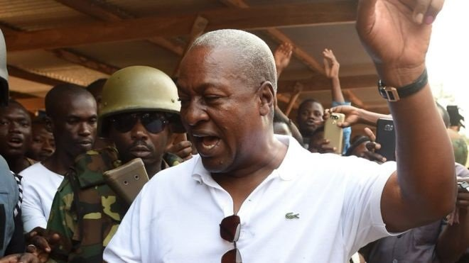 Casting his vote, Mr Mahama said he had no regrets over his first term in office  AFP/GETTY via BBC