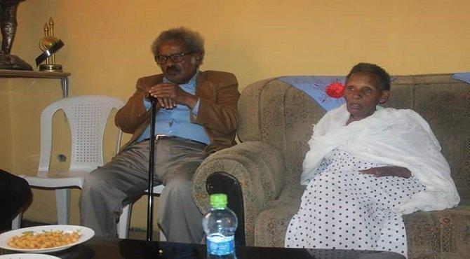Temesgens Desalegne's mother with Professor Mesfin Woldemariam Source : Addis Dimts