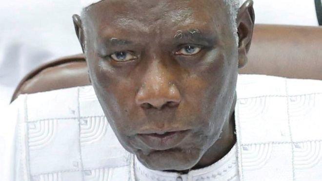 Alieu Momar Njai presided over Yahya Jammeh's shock election defeat/Reuters via BBC